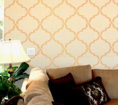 wall stencil, bedroom walls, master bedrooms, wall pattern stencil, stencil moroccan