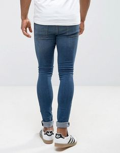 Tight Jeans Men, Superenge Jeans, Blue Jeans, Asos, Super Skinny Jeans, Wardrobes, Tights, Beanie, Mens Fashion