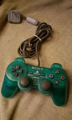 SONY PS1 PLAYSTATION ORIGINAL EMERALD GREEN ANALOGUE RARE CONTROLLER PAD RETRO  in Video Games & Consoles, Video Game Accessories, Controllers & Attachments   eBay!
