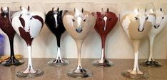 Horse wine glasses! Painted with your horse on them by The Horses Glass