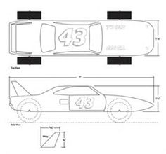 Image Result For Pinewood Derby Car Templates Printable  Printable Car Template
