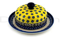 Polish Pottery 6-inch Dish with Cover | Boleslawiec Stoneware | Polmedia H7592B