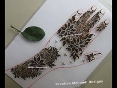 YouTube floral gulf henna mehndi design