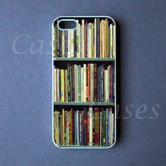 BOOKSHELF IPHONE5CASE Pretty GEEKY Custom Iphone 5 Cover UNIQUE CUTE