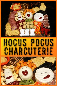 For my Hocus Pocus Party last week, I made this fun Hocus Pocus movie themed charcuterie board filled with Halloween sweets and treats to nibble on. It was a hit with both adults and kidsand super easy to make and serve!