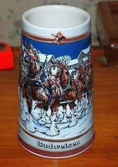 VINTAGE 1989 BUDWEISER CLYDESDALE CERAMIC STEIN -NEW   eBay