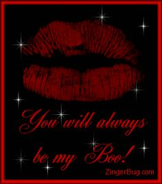 You Will Always Always My Boo Lips Glitter Graphic Glitter Graphic, Greeting, Comment, Meme or GIF