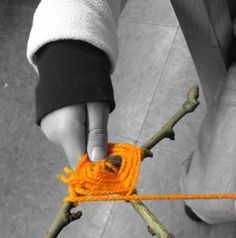 "Wool & sticks... image shared by Reggio Children Inspired ("",)"