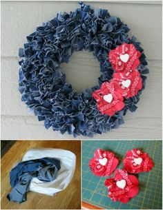 Make a denim wreath!