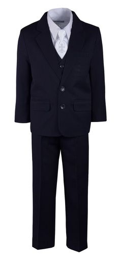 Boys Regular Fit Suit with Embroidered Communion Cross Neck Tie Trendy Suits, Beautiful Suit, Formal Suits, Boys Suits, Fitted Suit, Polyester Satin, Jacket Buttons, Collar Dress, Slacks