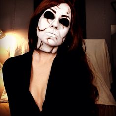 Michael Myers mask makeup. Instagram @ TheTrashMask