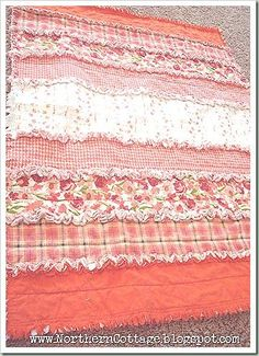 How to on making a rag quilt. Easy and so cute! http://www.northerncottage.net/2012/02/how-to-make-rag-quilt.html