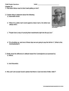Printables To Kill A Mockingbird Worksheet Answers to kill a mockingbird and quotes on pinterest discussion questions answers