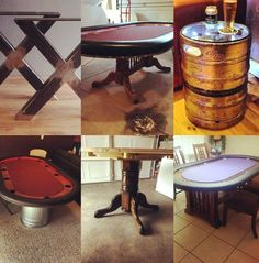 Instructions on how to build a poker table with free poker table plans. Poker Cupcakes, Poker Cake, Poker Party Foods, Poker How To Play, Poker Table Plans, Custom Poker Tables, Poker Run, Poker Night, Garbage Can