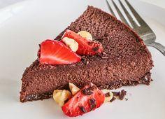 Healthy Chocolate Hazelnut Mousse Cake