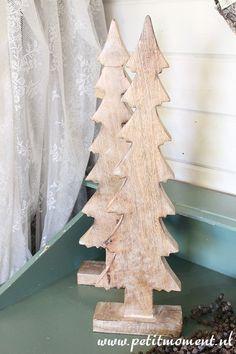 Houten Kerstboom *Petit Moment* Brocante en Landelijke Woonaccessoires