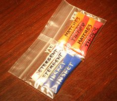 Straw tubes - great for incorporating liquids, gels and powders into your EDC pocket kit or bag.