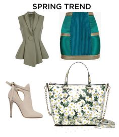 """""""Untitled #48"""" by najia17-2007 on Polyvore featuring Balmain, Givenchy, Jimmy Choo and Kate Spade"""