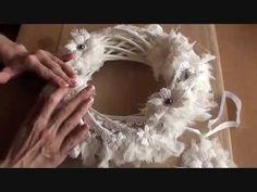 ▶ Wild Bunch - Christmas Wreath Tutorial - Tricia - YouTube