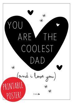Vaderdag printable | Elske | www.elskeleenstra.nl #fathersday