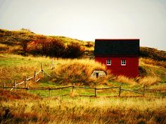 The Little House by Zinvolle - A little red house at Trinity, Newfoundland. (Photo taken in Newfoundland, Canada)