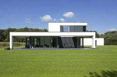 Maas Architecten » woonhuis lochem // stucwerk modern villa strak minimalistisch glas: