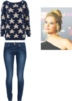 """""""Hannah Marin from Pretty little liars inspired outfit from: s03e16!"""" by helenaa174 ❤ liked on Polyvore"""