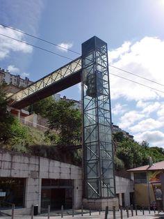 Troço inferior, vertical, visto da Avenida Sá da Bandeira