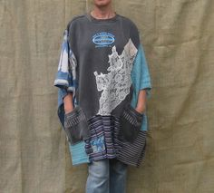 Kaftan or Poncho one size fits most upcycled by AnikaDesigns, $50.00