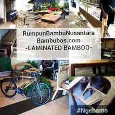 Researchbamboo laminate by academics, with a touch of appropriate technology, in order to take it to the village of artisans groups receive more value from bamboo, marketed to the rest of the