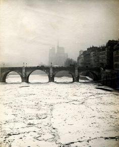 Une vue de la seine gelée en 1891