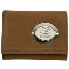 Rico Green Bay Packers Engraved Medallion Trifold Wallet by Rico. $36.95. 5 sleeves for pictures Officially licensed Made in China. Engraved NFL® team name and logo on front. 6 credit card pocketsID window. Leather trifold wallet. The Rico® engraved medallion trifold wallet is the perfect gift for your favorite football fan! It's made of genuine leather and features a metal team name and logo medallion on the outside. The inside has six credit card pockets, an ID window and ...