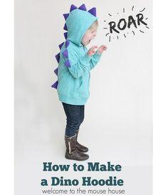 Tutorial: Dino spike hoodie