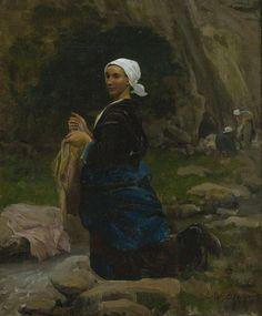 A Breton Laundress (Jules-Adolphe Breton - 1865)