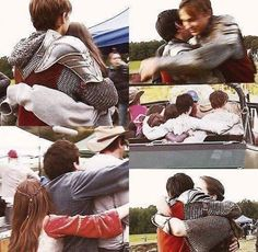 The Chronicles of Narnia: Prince Caspian Behind the Scenes hugs. Narnia Cast, Narnia 3, Narnia Prince Caspian, Narnia Movies, Courage Dear Heart, William Moseley, Edmund Pevensie, Ben Barnes, Cs Lewis