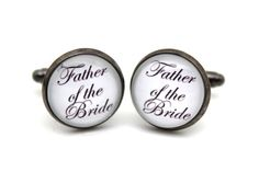 Father of the Bride Cufflinks, Gift For Men, Dad, Him on Etsy, $14.90 @Sarah Martin