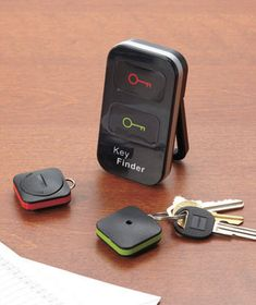 Wireless Key Finder locates your keys so you won't have to go searching for them. Eliminate morning panics--just press a button and wait for the loud alarm to s