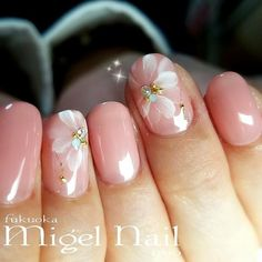 ------------- For matching accessories, check out Needles & Hedges. www.etsy.com/shop/needlesandhedges Beautiful Nail Art, Gorgeous Nails, Pretty Nails, Manicure, Gel Nail Designs, Flower Nails, Nude Nails, French Nails, Nail Arts