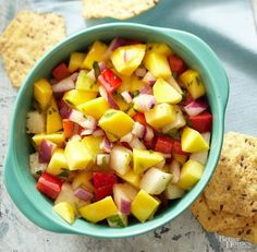 Ingredients  1 ripe medium mango, halved, seeded, peeled, and chopped 2/3 cup chopped peeled jicama 1/2 cup chopped red sweet pepper (1 small)