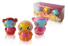 80219 Chupa Chups Lip balm puppets. Sweet, cute, hot and funky. That's what people will call these fantastic design puppet shaped lip balms from Adimex. The set of 3 puppets contains 3 flavors: cherry & vanilla, orange and banana cream.