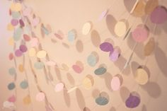 Paper Garland - possibly a pop of holiday color!