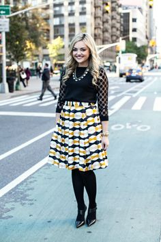 Kate Spade Bow Skirt with Polka Dot Sweater