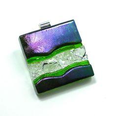 Art Glass Jewelry Green Purple Dimensional Hand by #coastalartglass, $115.00 #aweteam #firstfridayartwalk