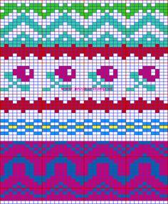 Mes favoris tricot-crochet: Le jacquard Crochet Chart, Knit Or Crochet, Filet Crochet, Crochet Stitches, Fair Isle Chart, Fair Isle Pattern, Knitting Charts, Knitting Patterns, Tapestry Crochet Patterns