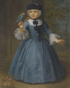 18th C. ANTWERP SCHOOL -- PORTRAIT OF A GIRL OF THE DE KNYFF FAMILY, OF ANVERS AND BRUSSELS