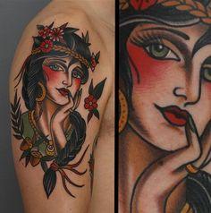 68 Trendy Tattoo Sleeve Women Traditional - My list of best tattoo models Classy Tattoos For Women, Sleeve Tattoos For Women, Trendy Tattoos, Traditional Tattoo Woman, Traditional Sleeve, Traditional Gypsy Tattoos, Head Tattoos, Body Art Tattoos, Arabic Tattoos