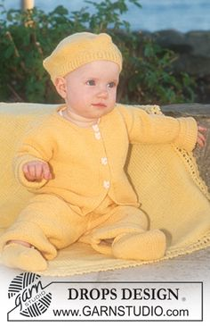 Jacket, trousers, hat and socks in Baby Merino and blanket in Karisma Superwash ~ DROPS Design