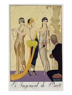 The Judgement of Paris, 1920-30 Giclee Print by Georges Barbier at Art.com