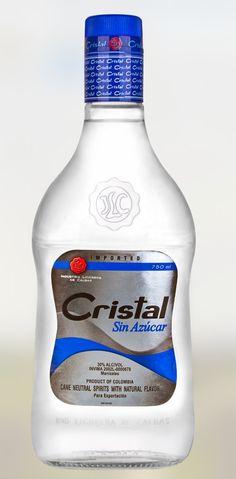 Aguardiente Cristal - Sin Azucar. Sugar Free Aguardiente. 0,35L - 0,7L. 29% Alcohol. Origin: Colombia Beverages, Drinks, Natural Flavors, Vodka Bottle, Neutral, Alcohol, How To Make, Free, Schnapps
