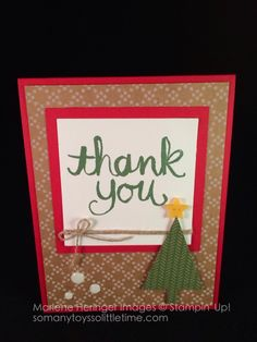 Stampin' Up! Under The Tree, Tree Punch, Watercolor Thank You